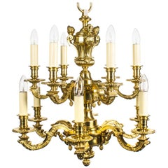 Early 20th Century French Louis XIV Style Twelve Branch Ormolu Chandelier