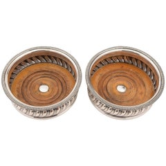 Pair of Sheffield Plated Coasters, circa 1830
