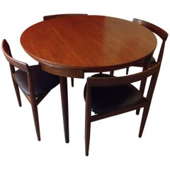 Hans Olsen for Frem Rojle 'Roundette' Dining Set; Table and Four Chairs