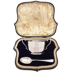 Cased Silver Bowl and Spoon, Sheffield, 1903