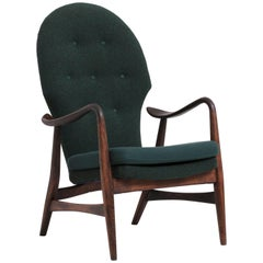 Danish Easy Chair Designed by Alfred Christensen, 1940s