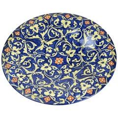 Italian Hand-Painted Centerpiece Dish, 1930-1940