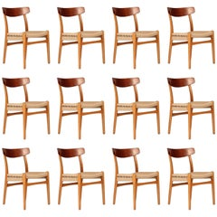Set of 12 Hans Wegner CH23 Dinning Chairs