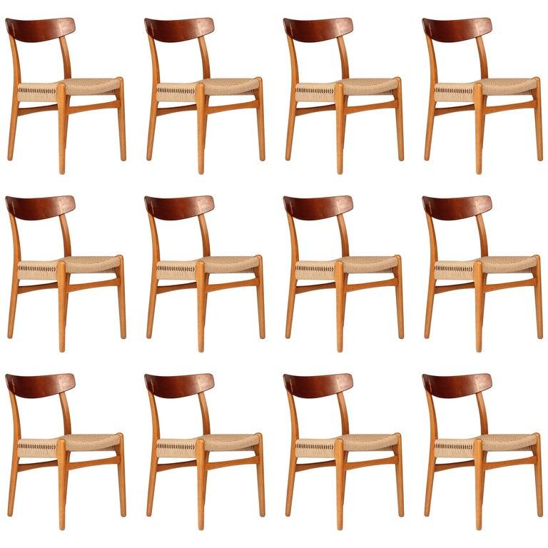 Set of 12 Hans Wegner CH23 Dinning Chairs
