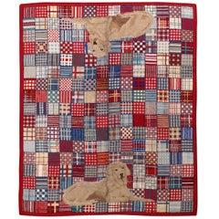 Handmade Vintage American Hooked Rug, 1960s