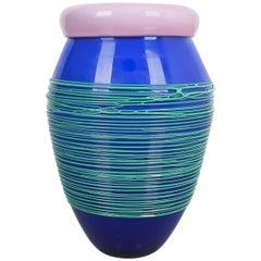 Toots Zinsky Chiacchiera Venini Vase Incamiciato Glass, Italy, 1990