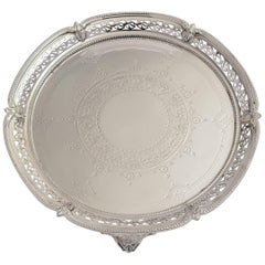 Edwardian Pierced and Embossed Salver