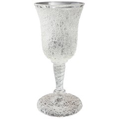 Victorian Crackle Glass Goblet, circa 1890