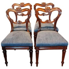 Set of Four William IV Rosewood Dining Chairs