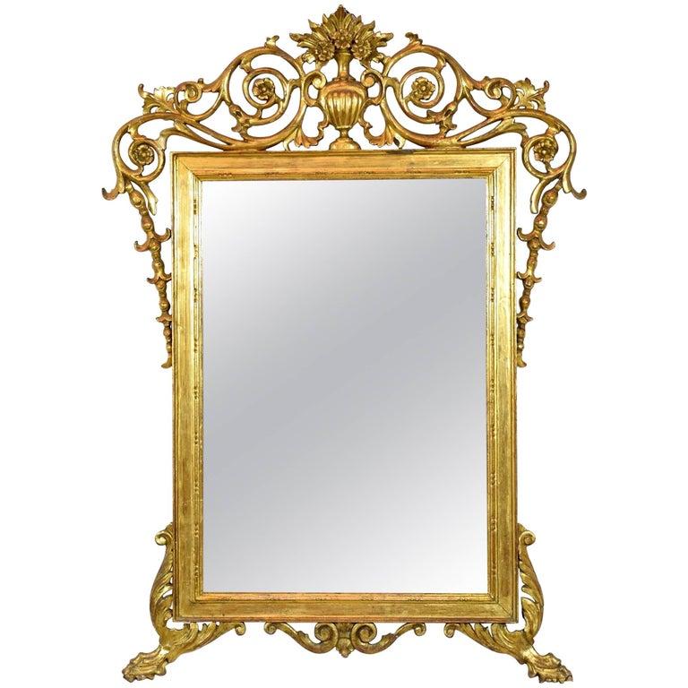 Antique Italian Giltwood Mirror