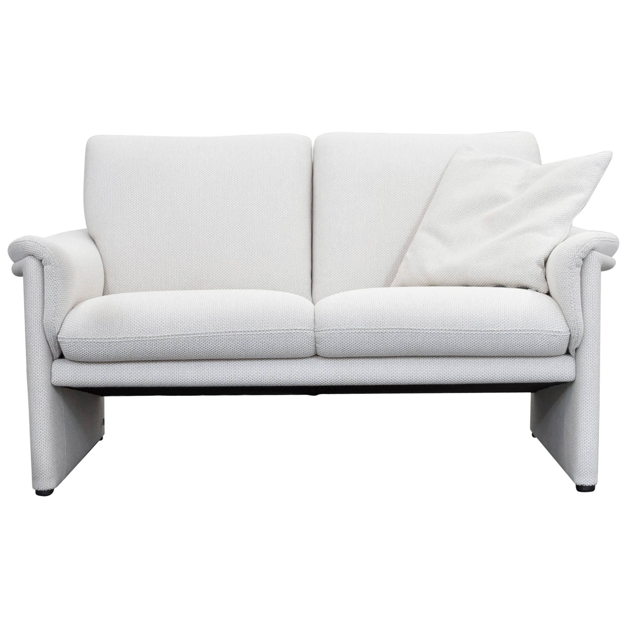 COR Zento Designer Sofa Fabric Crème White Two Seat Couch Modern