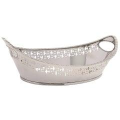 Victorian Silver Plated Bread Basket, circa 1890
