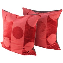 Pair of Pillows in Clarence House Fabric