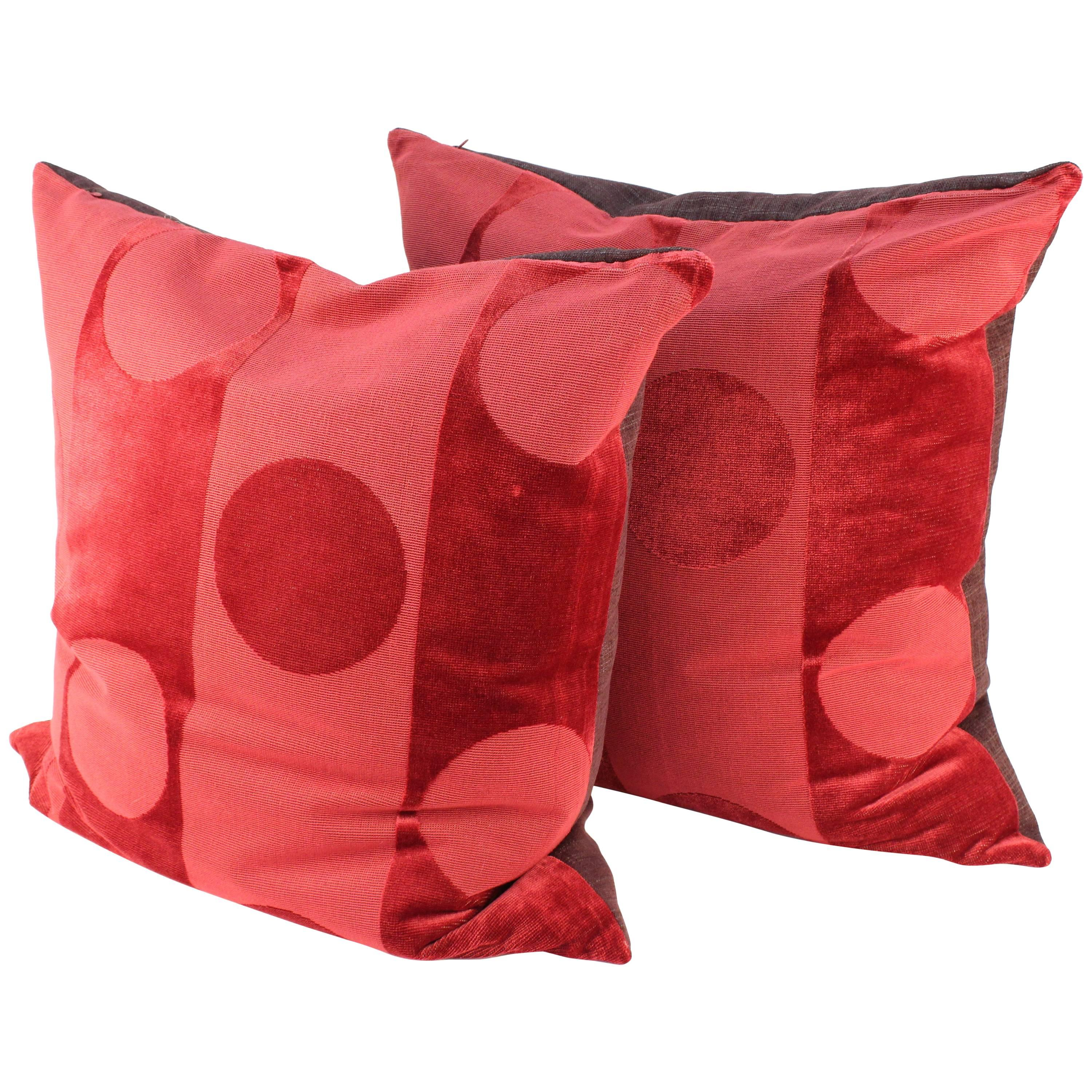 Superior Pair Of Pillows In Clarence House Fabric