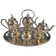 Puritan by Gorham Sterling Silver Tea Set Six-Piece Set with Tray