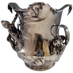 WMF of Germany Art Nouveau Silver Plate Wine Champagne Cooler Figural Hollowware