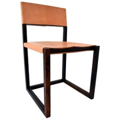 Hawthorne Chair, Contemporary Modern, Wood and Leather