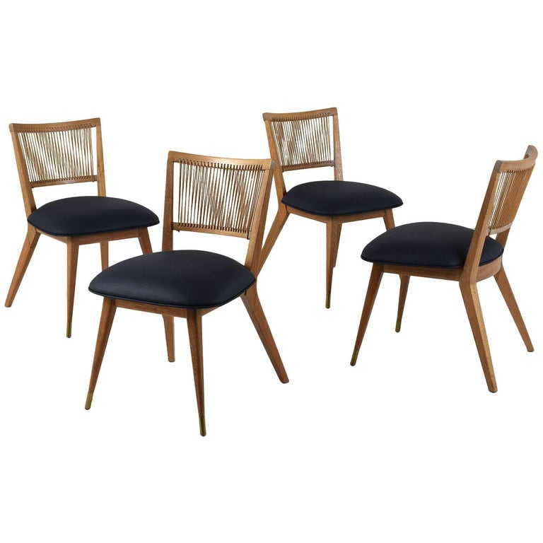 Set of Four Modern-Style Side Chairs
