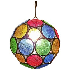 Moroccan All Glass Lantern, Ball Style