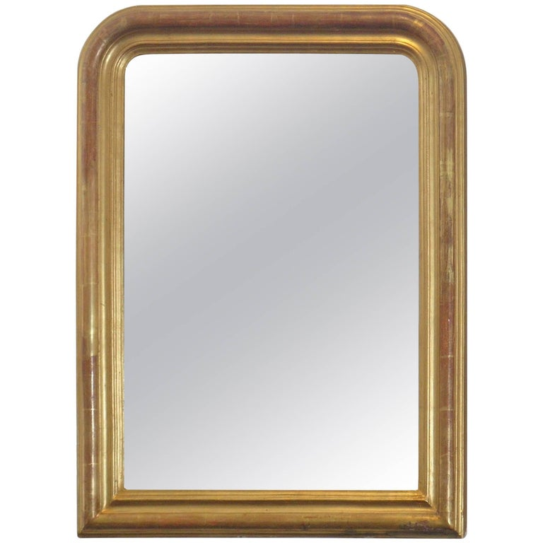 24-Karat Gold Leafed Louis Philippe Mirror For Sale