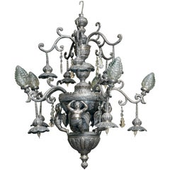 1926 Sterling Silver Chandelier from India