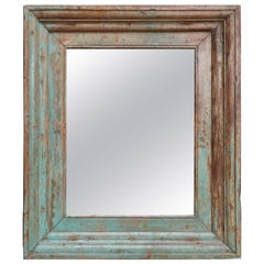 Frame Comes from a 1840s Heavy Teak Wood Window Frame of a Colonial Home