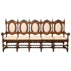 1850s Solid Satinwood Superbly Handcrafted Bench from Sri Lanka