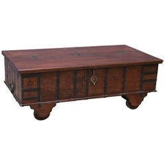 Large Teak Wood Early 19th Century Dowry Chest