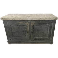 French Blue Cabinet with a Belgian Blue Stone Top