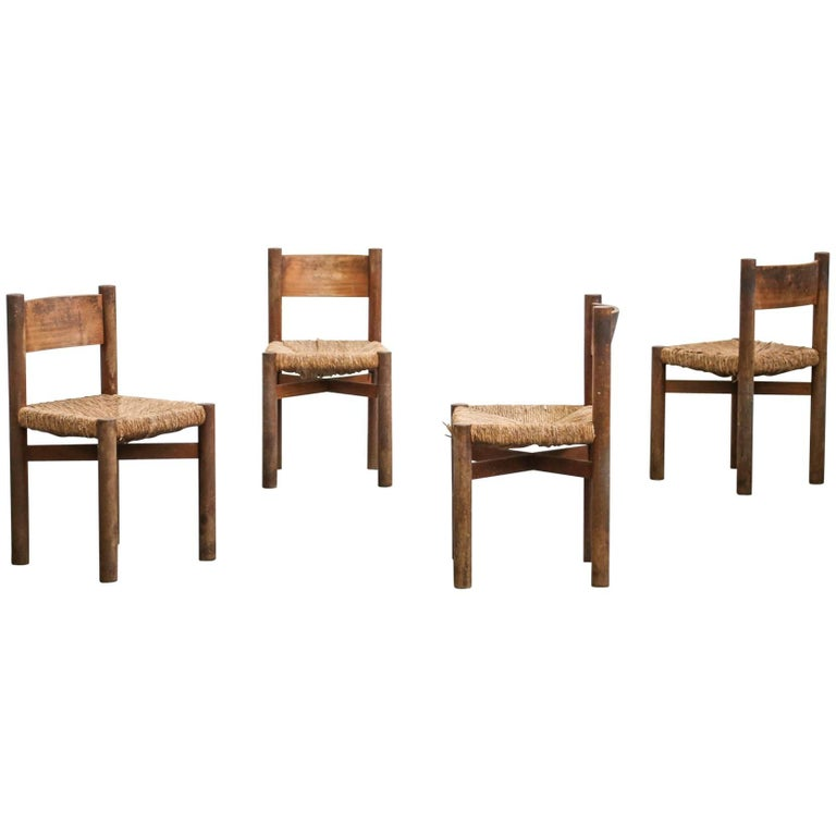 Chairs for Meribel Designed by Charlotte Perriand, French, 1950s Jean Prouvé
