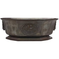 Art Deco Cast Iron Planter