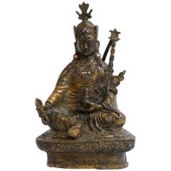 Tibetan Gilt Bronze Figure of Deity