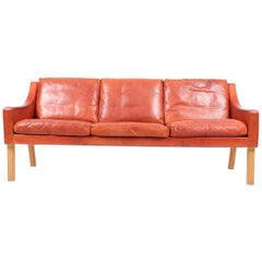 Sofa in Patinated Leather by Erik Jørgensen