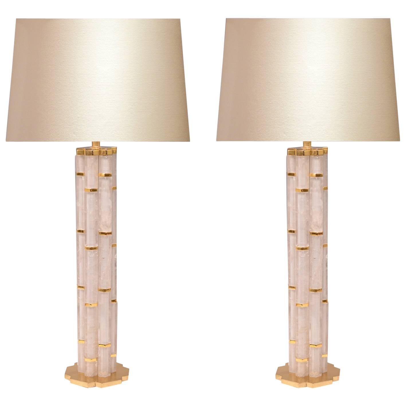 Bamboo Rock Crystal Quartz Lamps