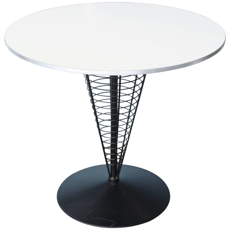 Midcentury Verner Panton Wire Cone Table For Sale