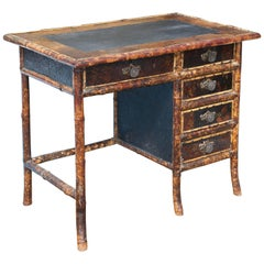 Superb 19th Century English Bamboo Desk