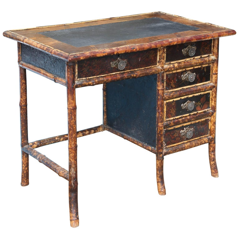 Superb 19th Century English Bamboo Desk For Sale