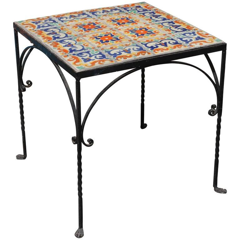 Large Mizner Era Tile Top Table 1