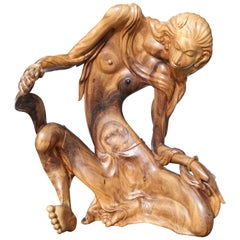 Larger Than Life Midcentury Teak Root Nude