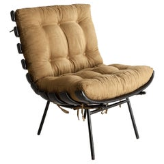 Lounge Chair in Ebonized Wood with Iron Frame by Martin Eisler for Forma, 1952