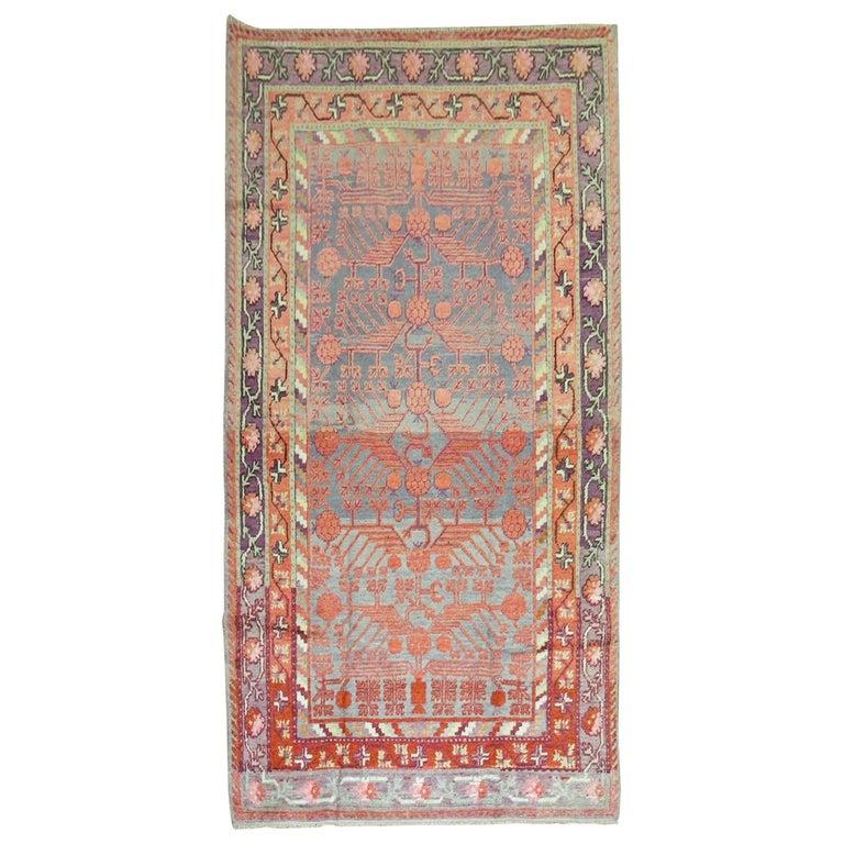 Antique Pomegranate Design Khotan Rug