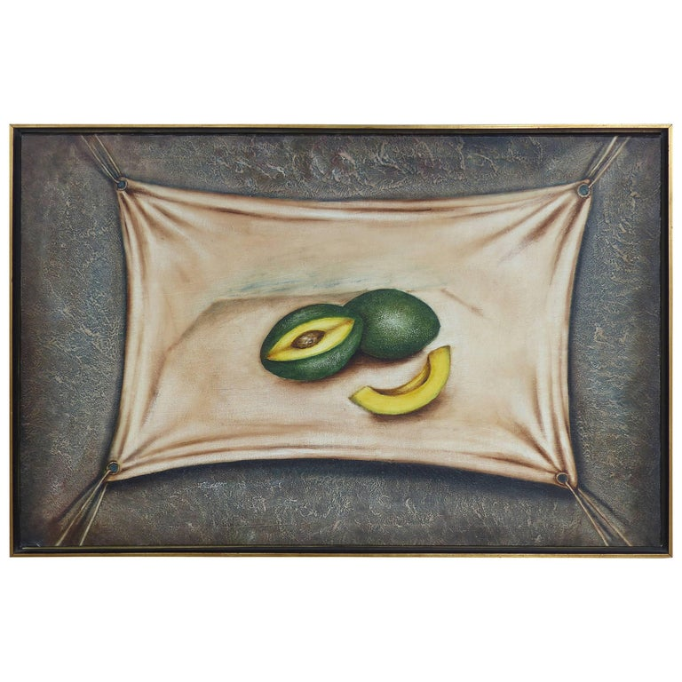 "Oil Painting on Canvas ""Avocados"" by Cuban American Artist Nelson Franco"