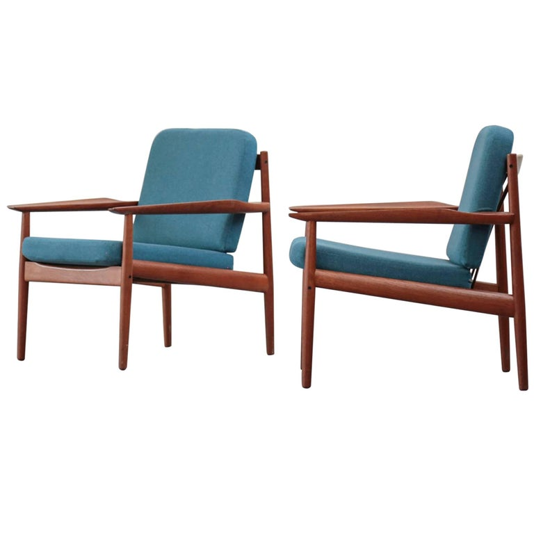 Rare Easy Chairs by Arne Vodder 1960s Teak Danish