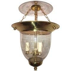 Set of Twelve Etched Glass Lanterns
