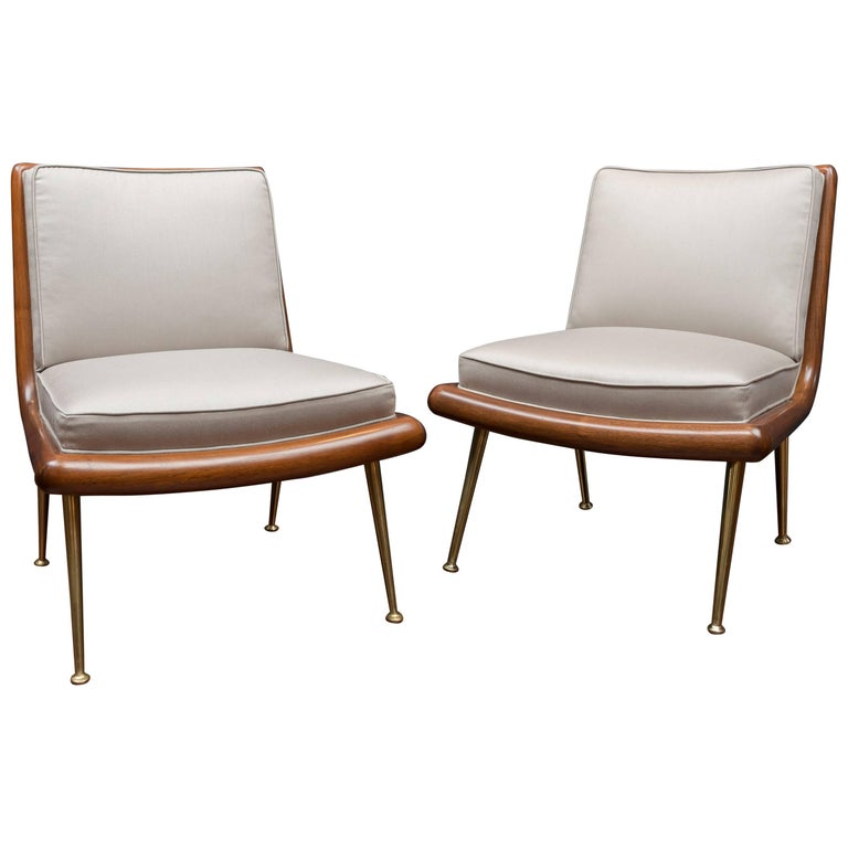 T.H. Robsjohn-Gibbings Lounge Chairs For Sale