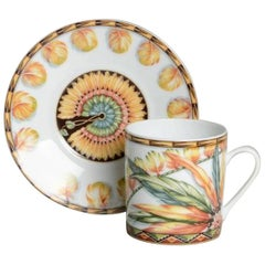 """Hermes """"Patchwork"""" Collection Cake and Coffee Set"""