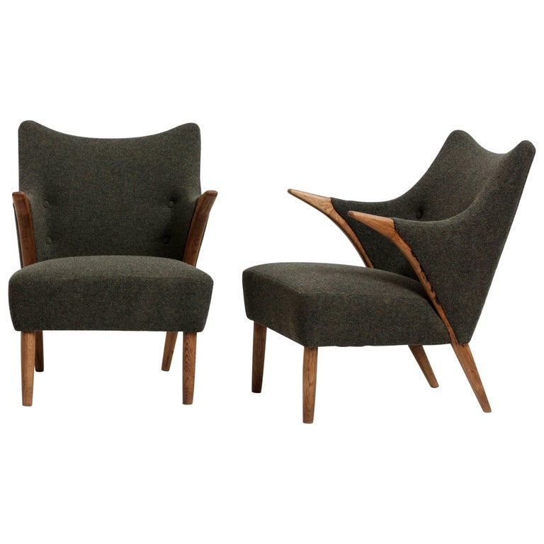Pair of Easy Chairs Designed by Svend Skipper, 1960s