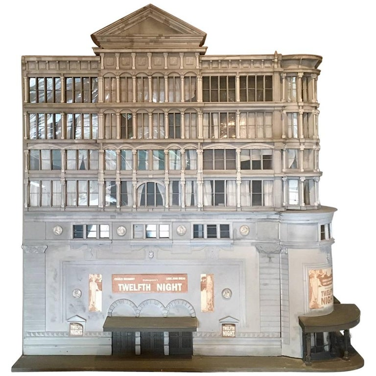 Beautiful Large 1980s Architectural Model of a Theatre 1