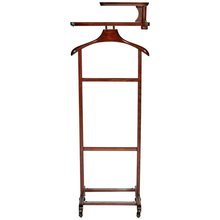 Mahogany wood men s valet stand at stdibs