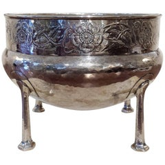 Art Nouveau Silver Rose Bowl by A E Jones